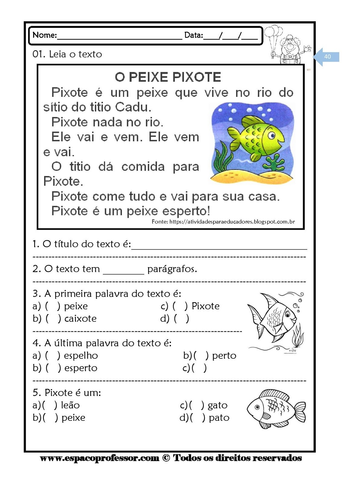 Foto4 - Kit leitura e interpretação de textos com 6 cadernos