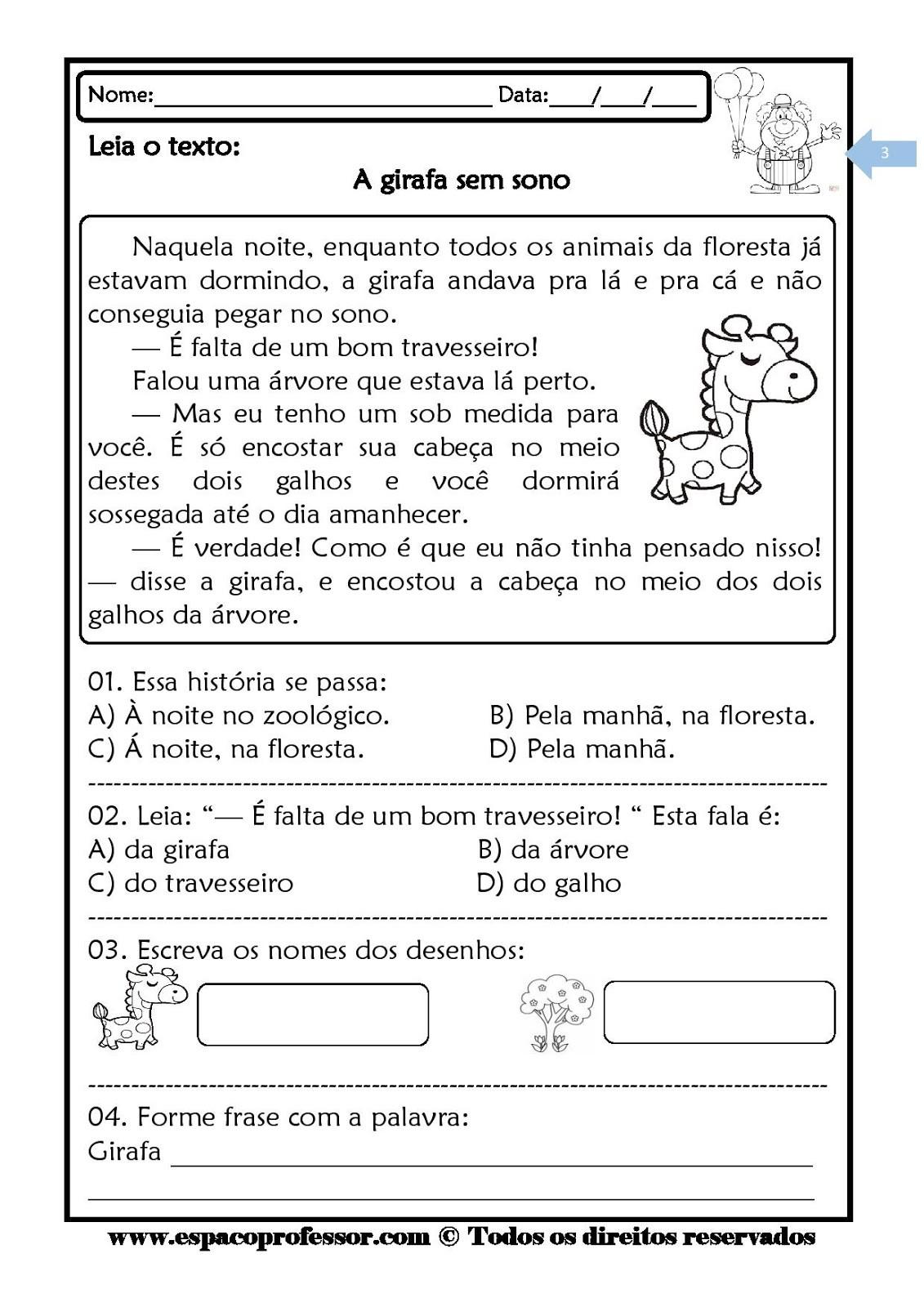 Foto8 - Kit leitura e interpretação de textos com 6 cadernos