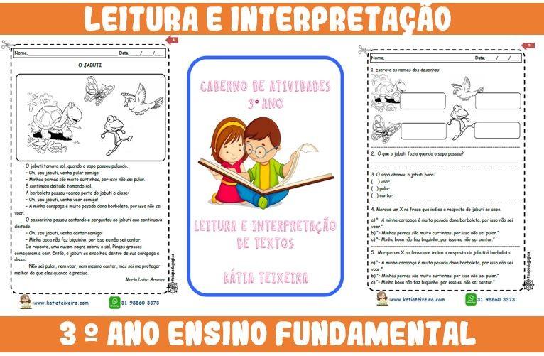 Foto 1 - Novo caderno Leitura e Interpretação 3° ano