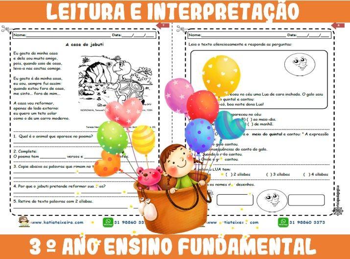 Foto2 - Novo caderno Leitura e Interpretação 3° ano