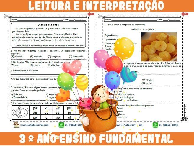 Foto3 - Novo caderno Leitura e Interpretação 3° ano