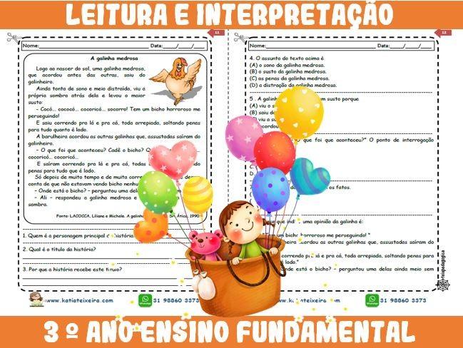 Foto4 - Novo caderno Leitura e Interpretação 3° ano