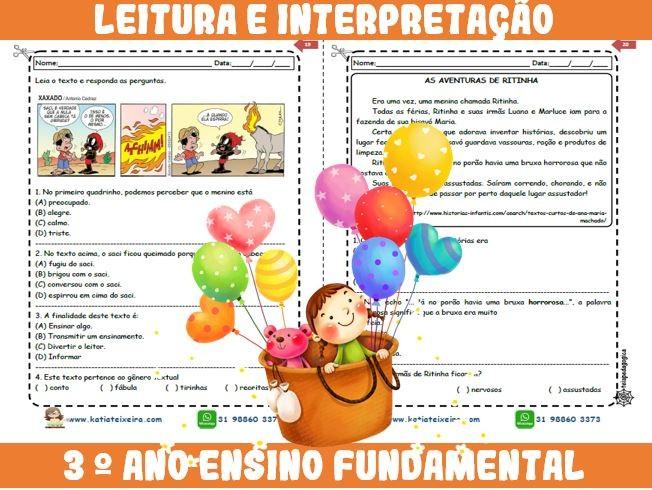 Foto5 - Novo caderno Leitura e Interpretação 3° ano