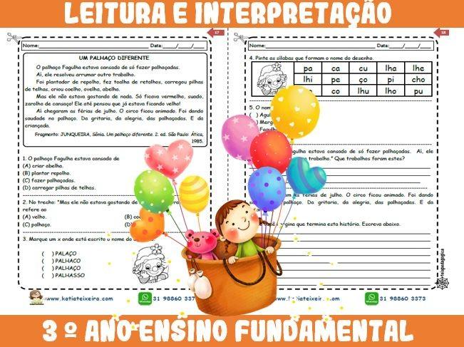 Foto6 - Novo caderno Leitura e Interpretação 3° ano