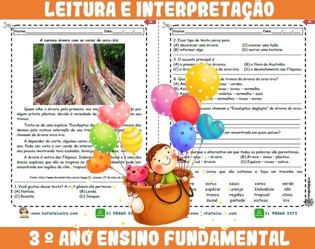 Foto7 - Novo caderno Leitura e Interpretação 3° ano