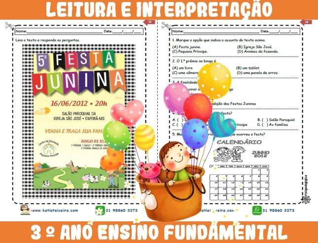 Foto8 - Novo caderno Leitura e Interpretação 3° ano