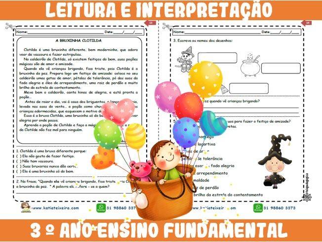 Foto9 - Novo caderno Leitura e Interpretação 3° ano