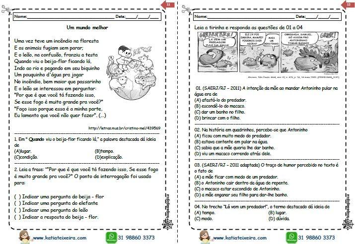Foto2 - Novo caderno leitura e interpretação 4º e 5º ano
