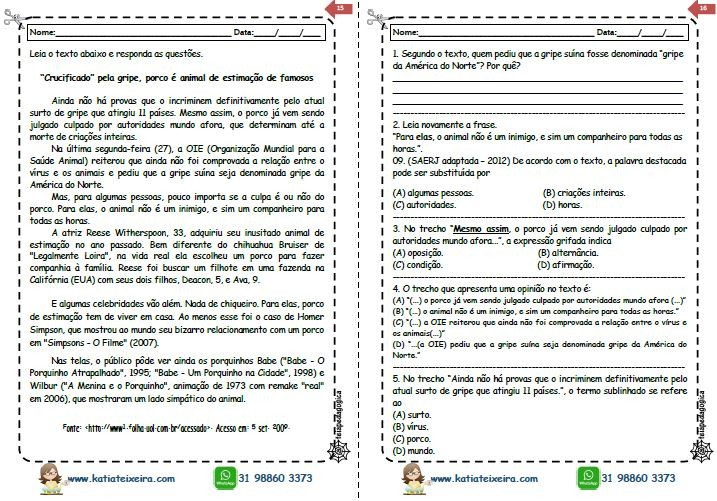 Foto3 - Novo caderno leitura e interpretação 4º e 5º ano