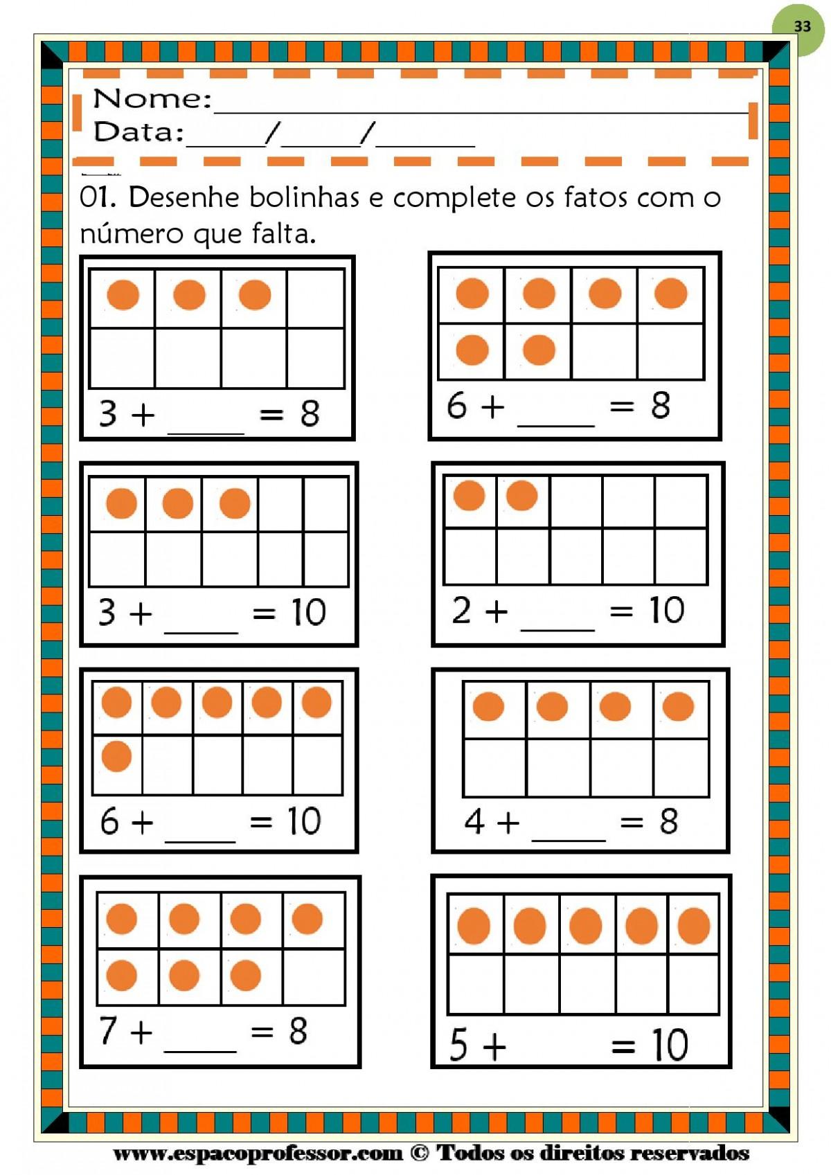Foto4 - Operações Matemáticas Adição e Subtração até 999