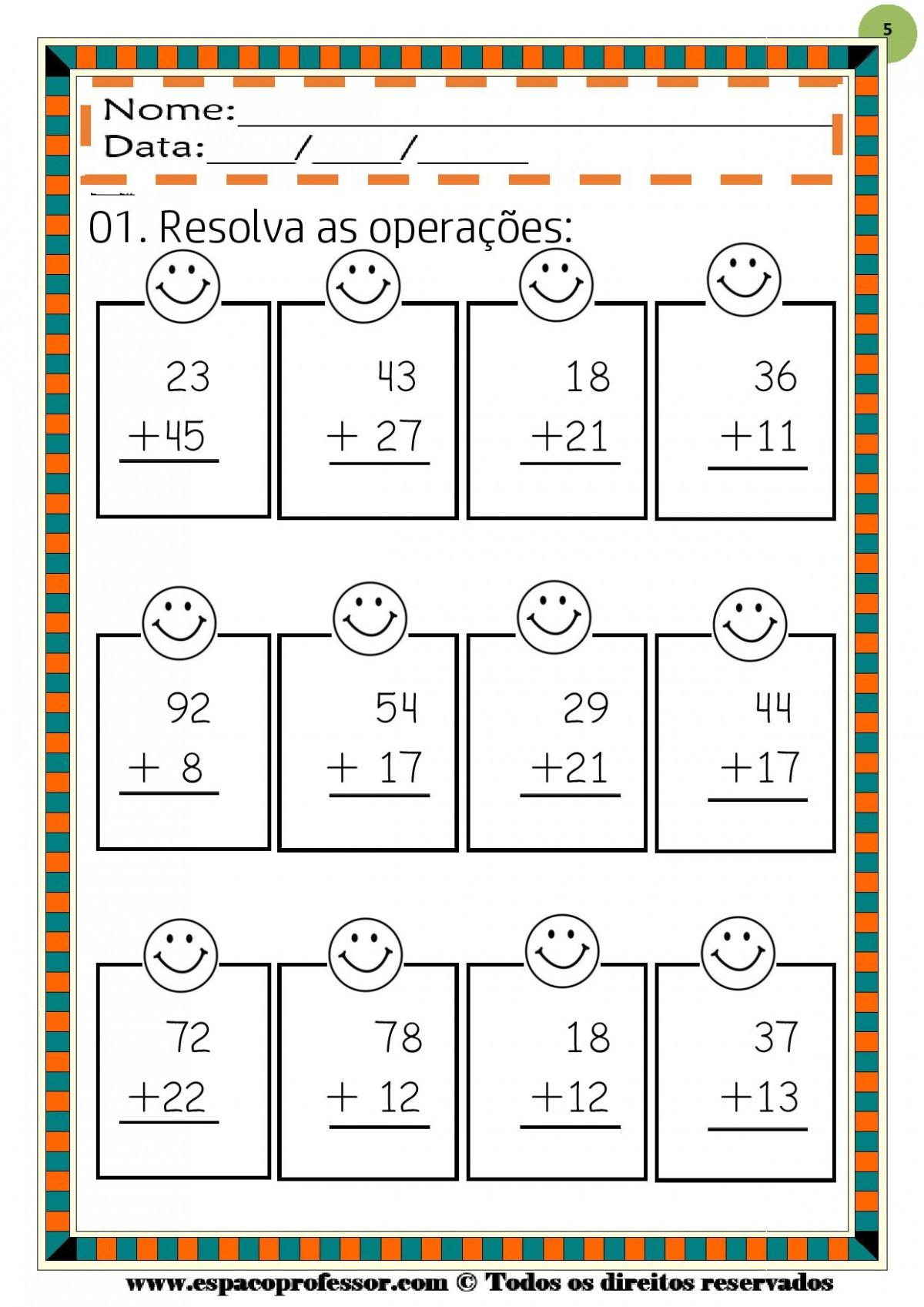 Foto5 - Operações Matemáticas Adição e Subtração até 999