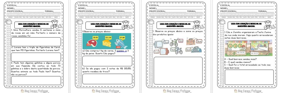 Foto4 - Resolvendo Problemas com as 4 operações com 28 questões