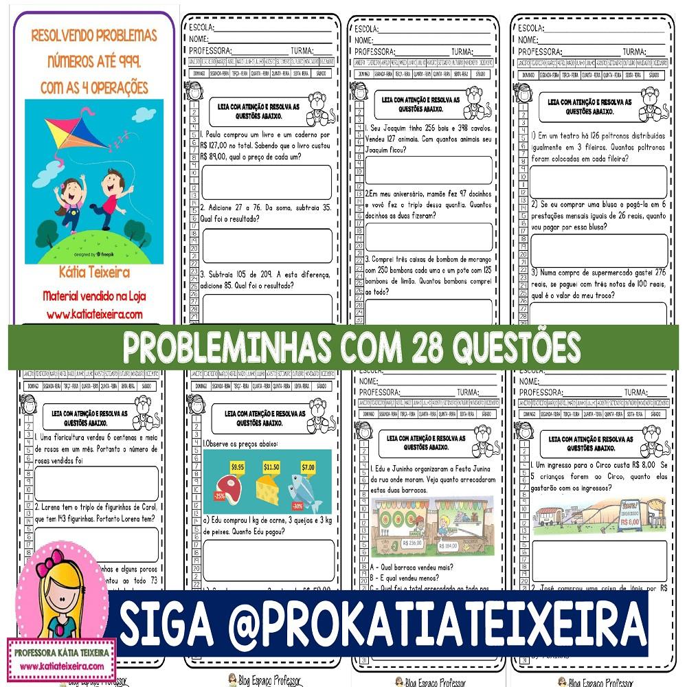 Imagem do produto Resolvendo Problemas com as 4 operações com 28 questões