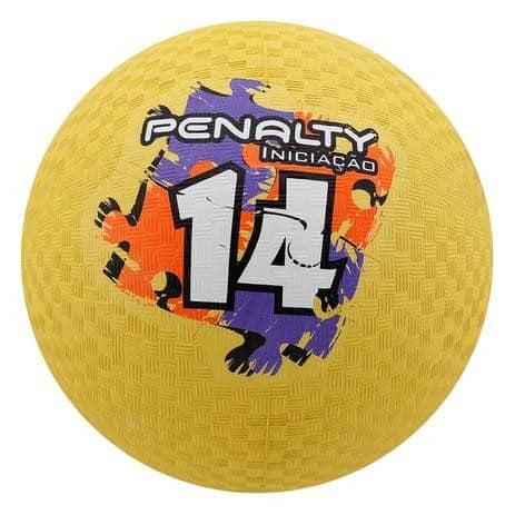 Foto 1 - Bola iniciação T14 Amarelo Penalty