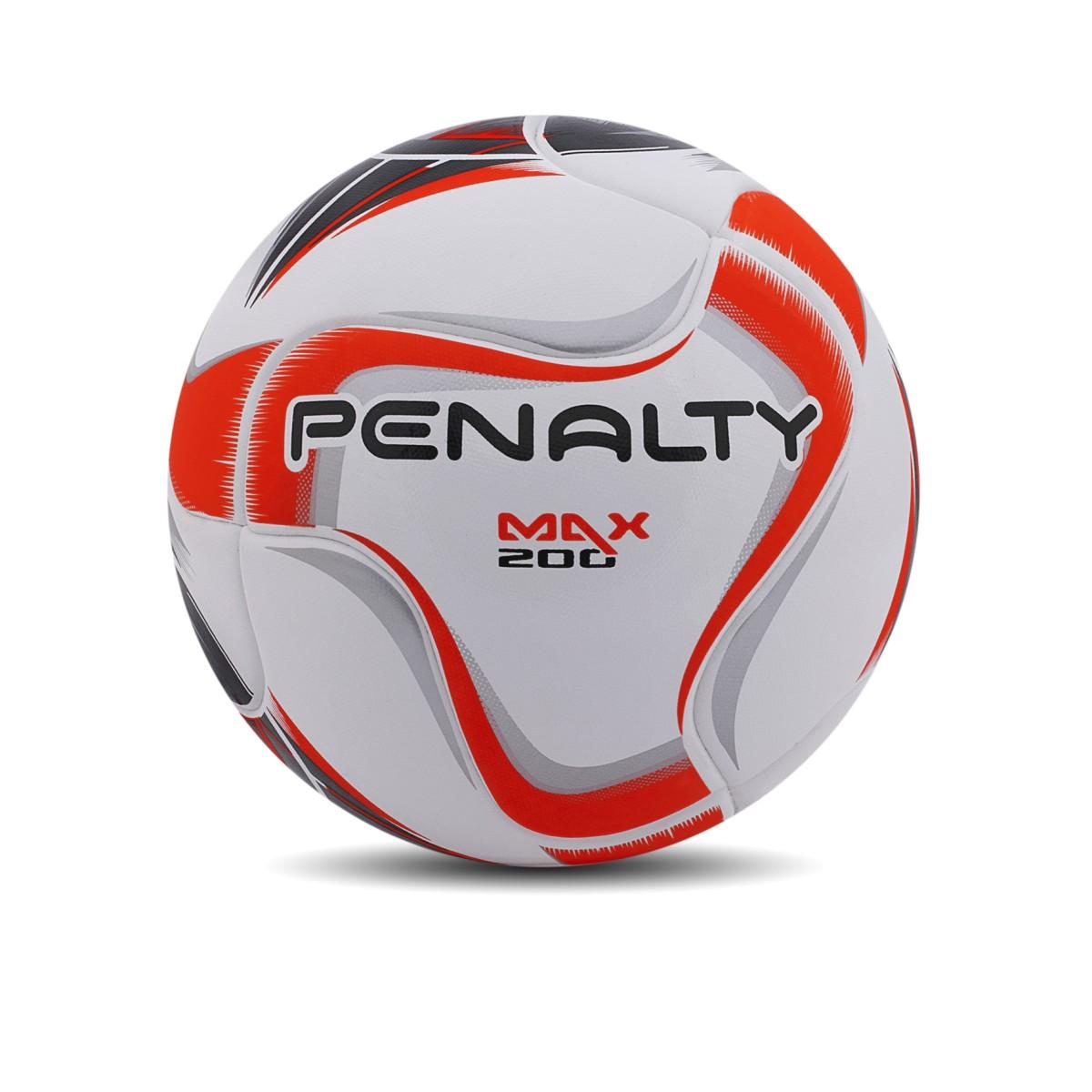 Foto 1 - Bola Penalty Futsal MAX 200 Termotec Branco, Preto e Laranja