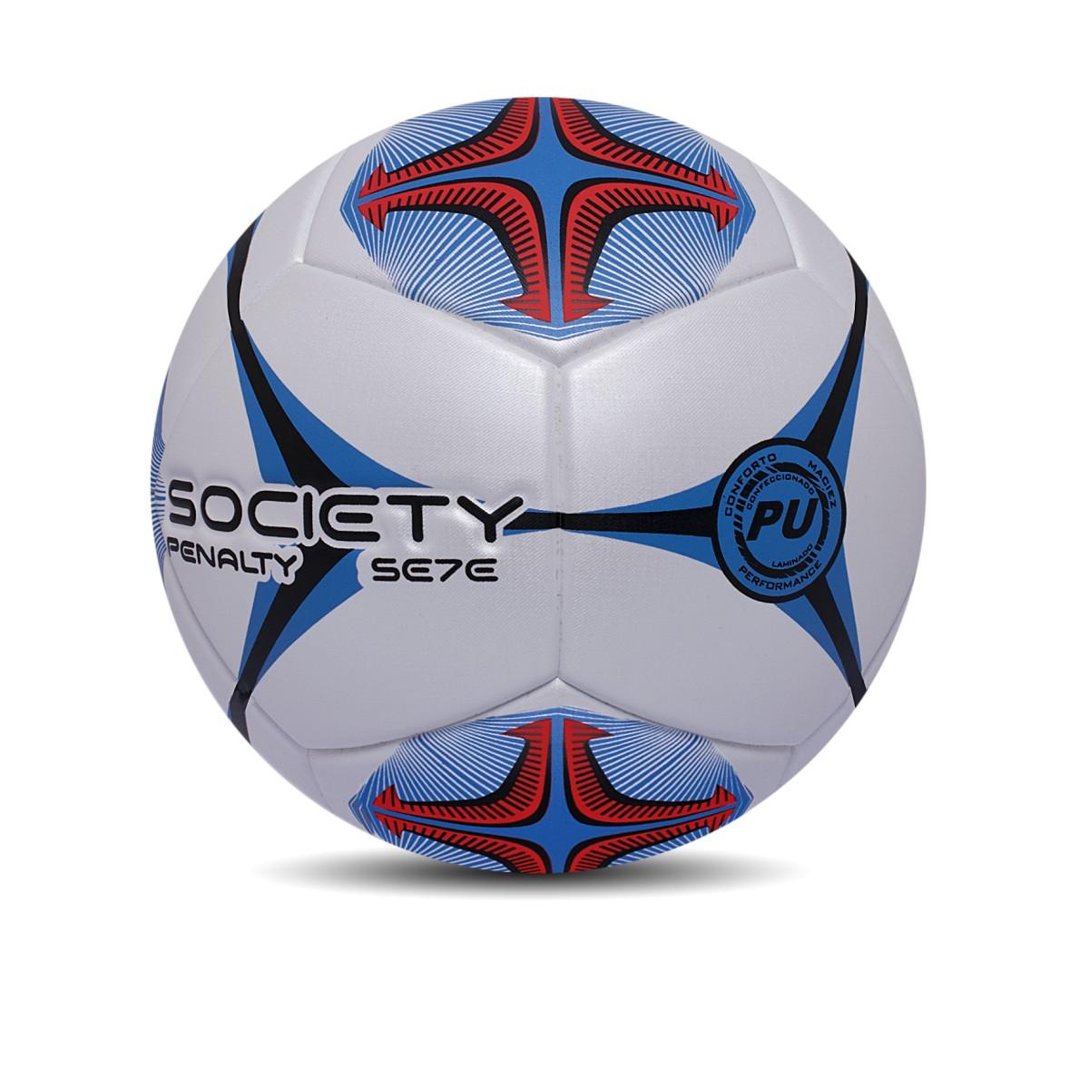 Foto 1 - Bola Penalty Society Se7e R2 Kickoff Branco, Preto e Azul