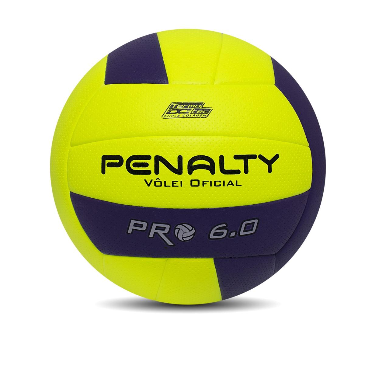 Foto 1 - Bola Penalty Vôlei 6.0 Profissional Amarelo Roxo
