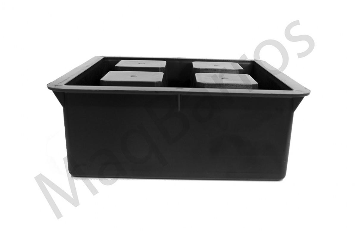 Foto2 - Elemento vazado 4 furos (Embalagem com 08 un.)