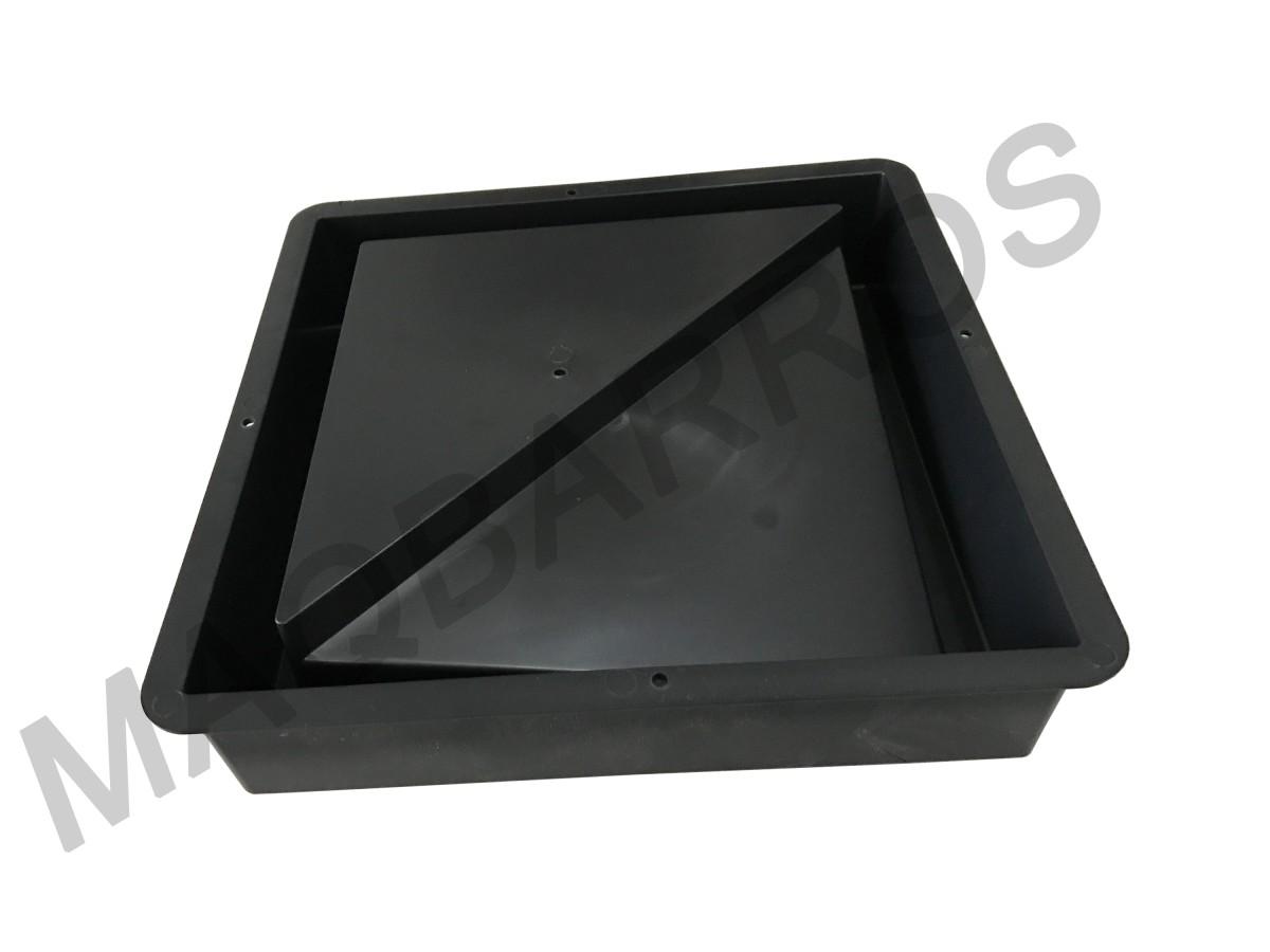 Foto2 - Elemento vazado triângulo - (Embalagem com 10 un.)