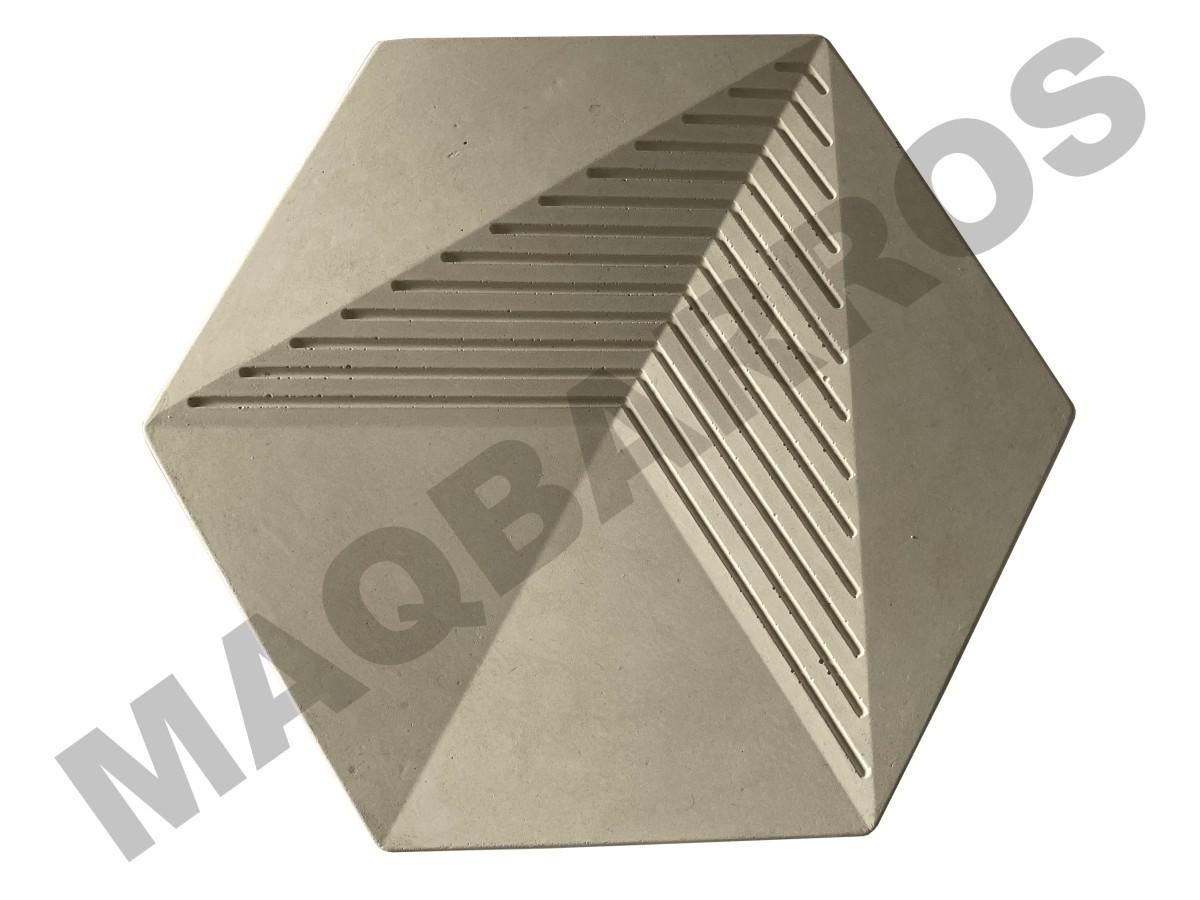 Foto2 - Revestimento de parede Sextavado Diamante