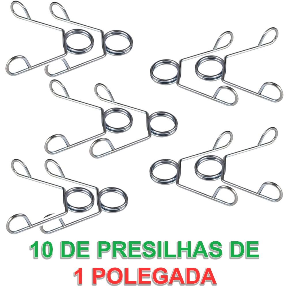 Foto 1 - 10 Presilhas / Grampo para Barra de 1 Polegada