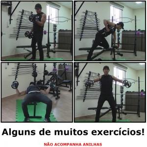 Foto4 - 2 Barras / Halteres de 40cm Maciças Cromadas c/ Recartilho para Treinos de Musculação - Fitness Prado