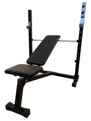 Foto1 - Banco de Supino c/ 3 posições Reto, inclinado e declinado para treinar em Casa - Fitness Prado