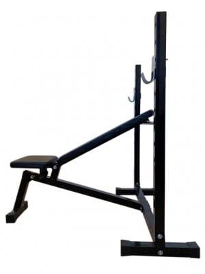 Foto2 - Banco de Supino c/ 3 posições Reto, inclinado e declinado para treinar em Casa - Fitness Prado
