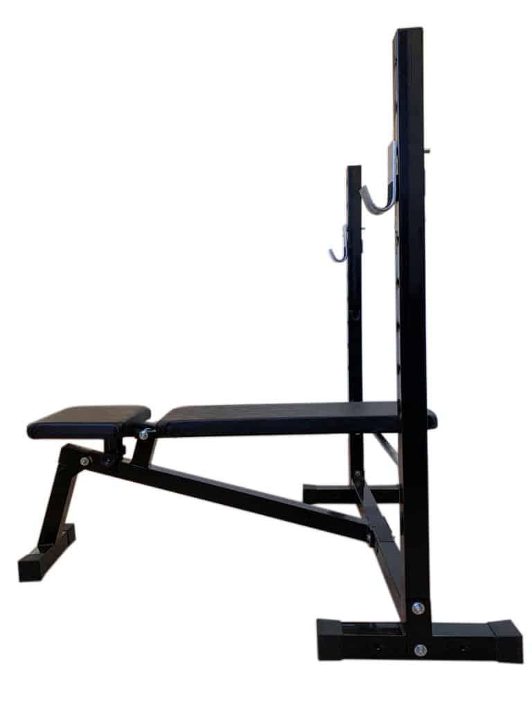 Foto4 - Banco de Supino c/ 3 posições Reto, inclinado e declinado para treinar em Casa - Fitness Prado