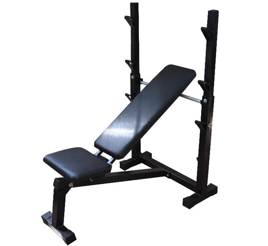 Foto 1 - Banco de Supino c/ 3 posições Reto, inclinado e declinado para treinar em Casa - Fitness Prado