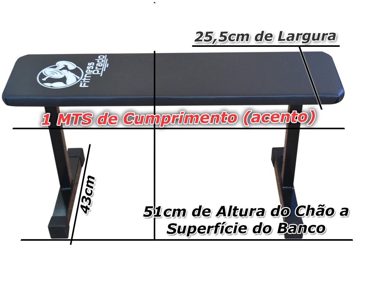 Foto4 - Banco Livre Reto / fixo para Musculação com Barras / Halteres ou equipamentos ( multiuso ). Melhor Preço - Fitness Prado