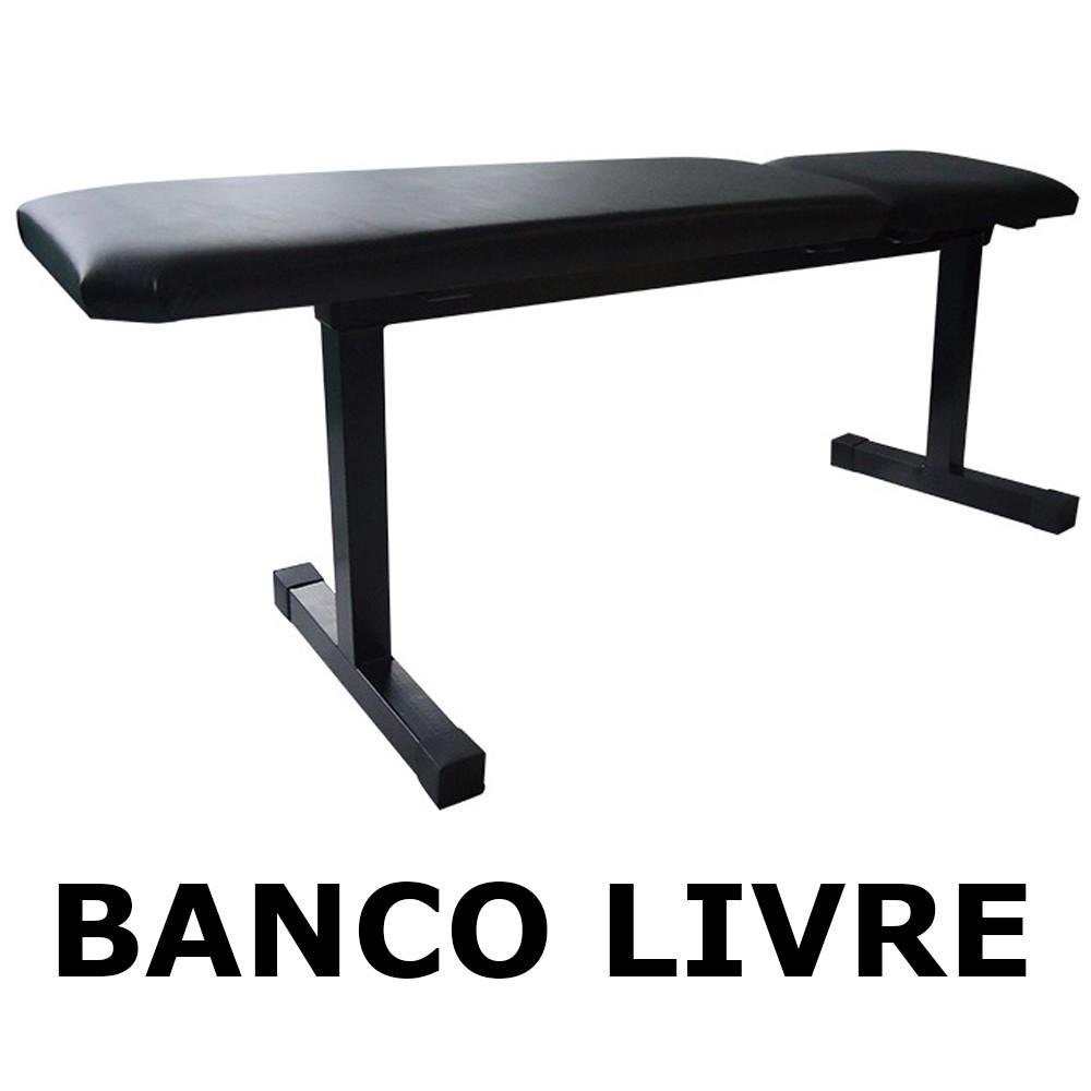 Foto2 - Banco Livre Reto / fixo para Musculação com Barras / Halteres ou equipamentos ( multiuso ). Melhor Preço - Fitness Prado