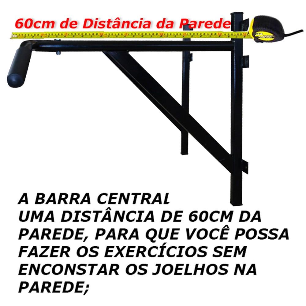 Foto3 - Barra Fixa De Parede 3.0 para Exercícios / Treinar em Casa - Suporta 180kg - Melhor Preço e Qualidade | Fitness Prado