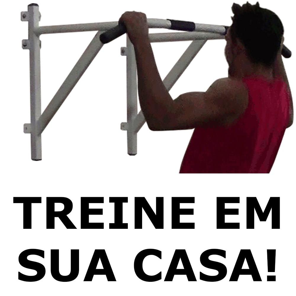 Foto 1 - Barra Fixa De Parede 3.0 para Exercícios / Treinar em Casa - Suporta 180kg - Melhor Preço e Qualidade | Fitness Prado