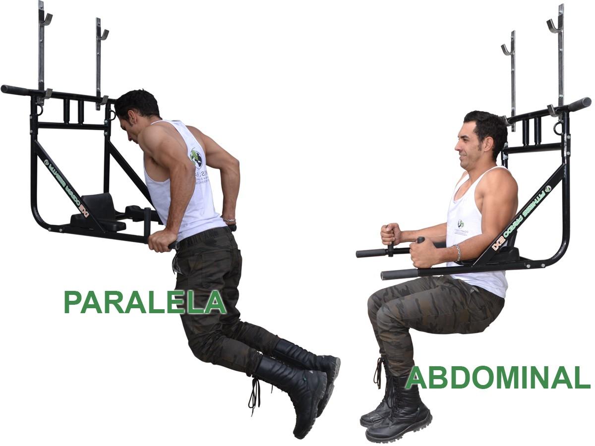 Foto2 - Barra Fixa de Parede que vira Paralela 4X1 Multiuso / Mista. Treine em Casa! Exclusividade no Brasil. - Fitness Prado