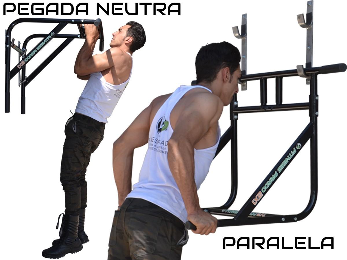 Foto 1 - Barra Fixa de Parede Que Vira Paralela 2X1 Multifuncional. Faça Muscle Up, Paralela, Barra Pronada... - Fitness Prado