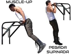 Foto4 - Barra Fixa de Parede Que Vira Paralela 2X1 Multifuncional. Faça Muscle Up, Paralela, Barra Pronada... - Fitness Prado