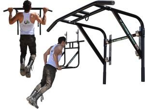 Foto5 - Barra Fixa de Parede Que Vira Paralela 2X1 Multifuncional. Faça Muscle Up, Paralela, Barra Pronada... - Fitness Prado