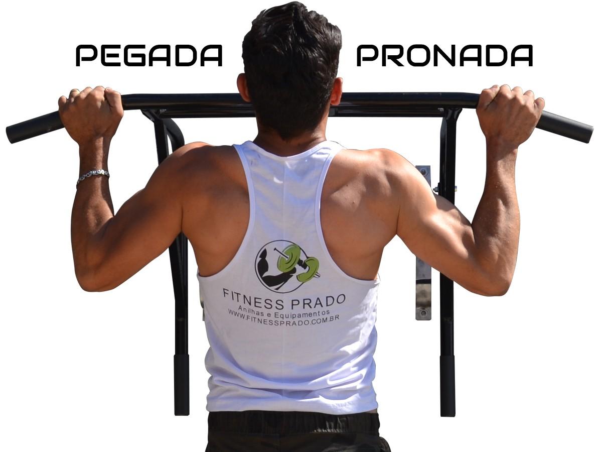 Foto6 - Barra Fixa de Parede Que Vira Paralela 2X1 Multifuncional. Faça Muscle Up, Paralela, Barra Pronada... - Fitness Prado