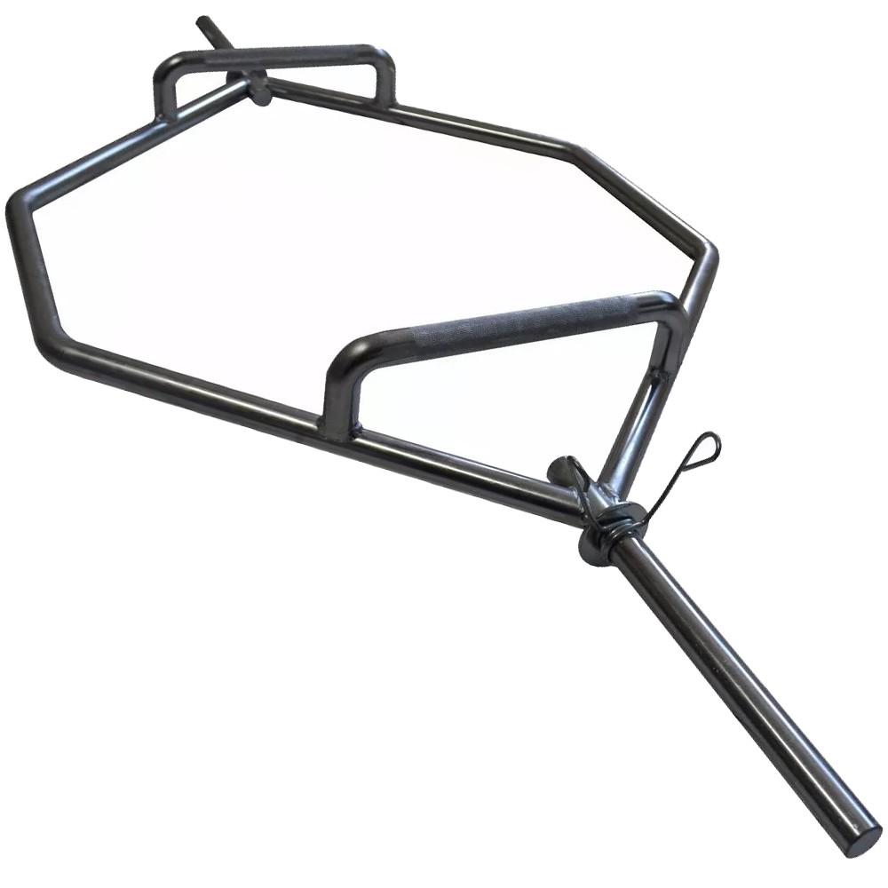 Foto2 - Barra Hexagonal Maciça Cromada Barra Para Levantamento Terra - Melhor Barra | Fitness Prado