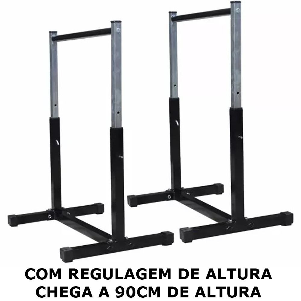 Foto 1 - Par de Paralelas com Regulagem de altura até 90cm. Menor Preço | Fitness Prado