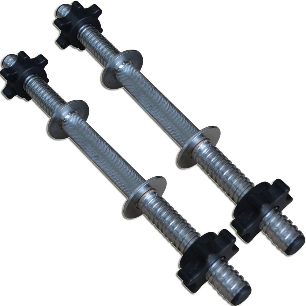 Foto 1 - Par de Halter / Barra de 40cm com Sistema Prático de Rosca para Anilhas. Melhor Barra | Fitness Prado