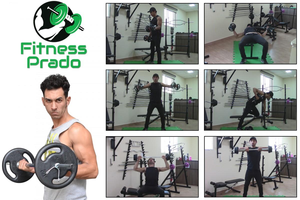 Foto2 - Kit 30Kg De Anilhas + Halteres / Barras de 1,20cm e 2 de 40cm ocas Cromadas c/ Recartilho para Musculação. Menor Preço | Fitness Prado