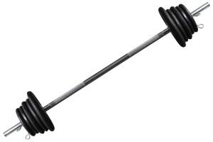Foto6 - Kit 30Kg De Anilhas + Halteres / Barras de 1,20cm e 2 de 40cm ocas Cromadas c/ Recartilho para Musculação. Menor Preço | Fitness Prado