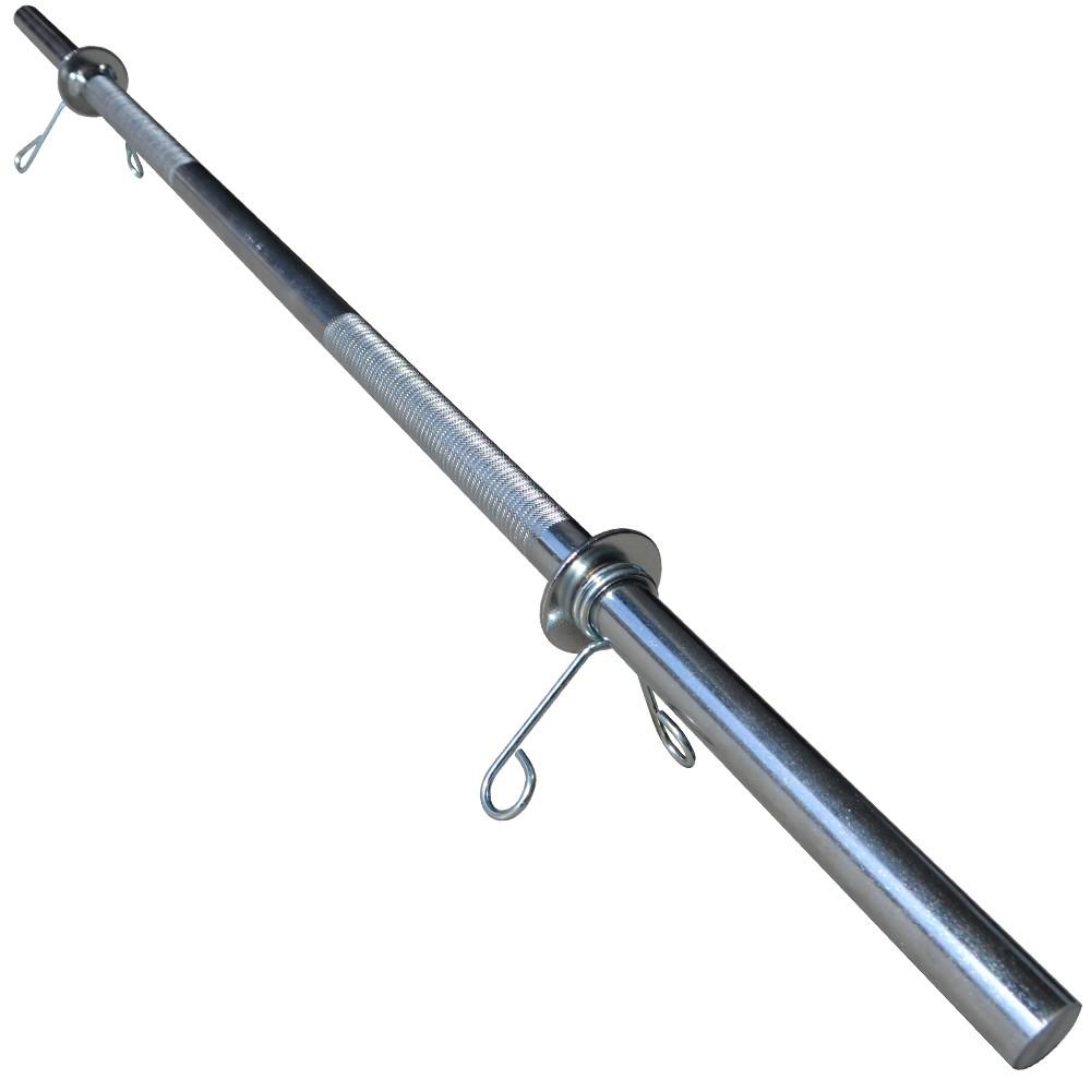 Foto5 - Kit 20Kg de Anilhas + Barras de 1,20cm e 2 de 40cm Maciças Cromadas c/ Recartilho para Musculação. Menor Preço | Fitness Prado