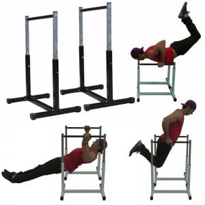 Foto3 - Par de Paralelas com Regulagem de altura até 90cm. Menor Preço | Fitness Prado
