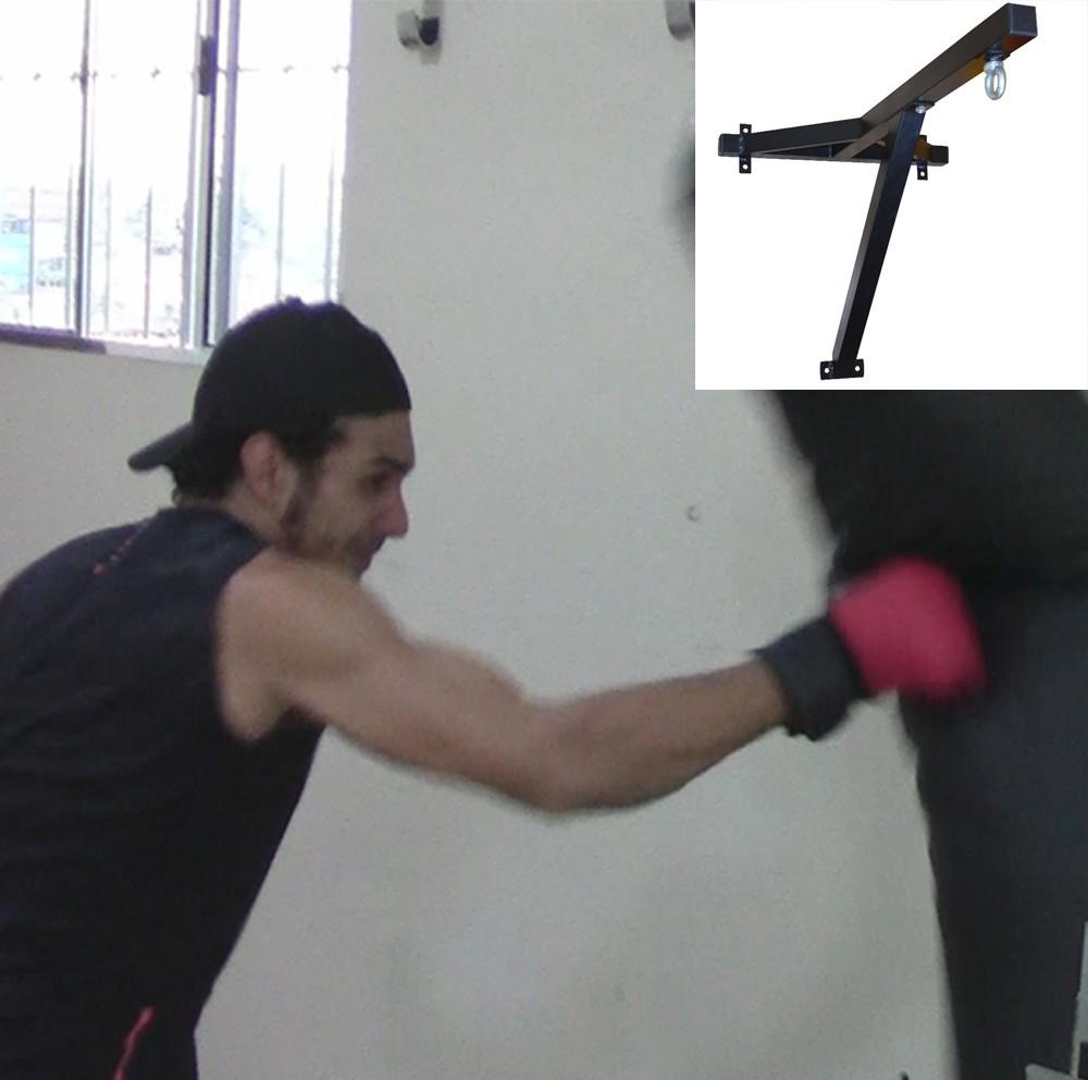 Foto 1 - Suporte Box De Parede Para Saco De Pancada