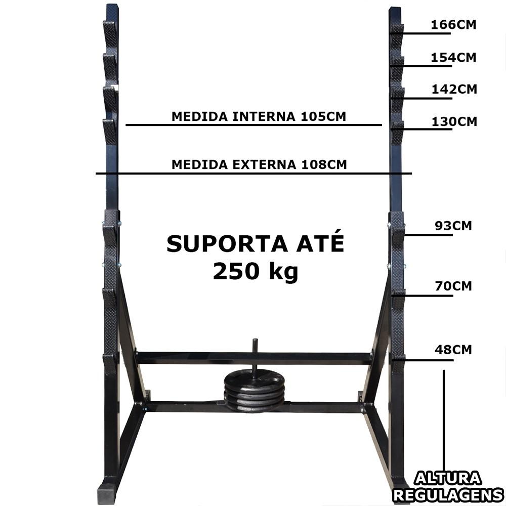 Foto 1 - Suporte Cavalete Para Agachamento, Supino entre Outros. Confira!!! - Fitness Prado