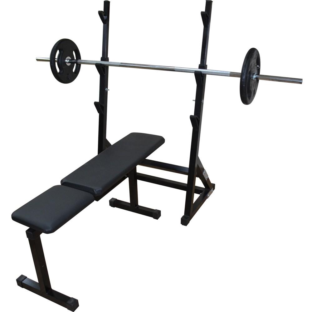 Foto4 - Suporte Cavalete para Barra - Supino, Bíceps, Banco Livre E Mais...- Fitness Prado