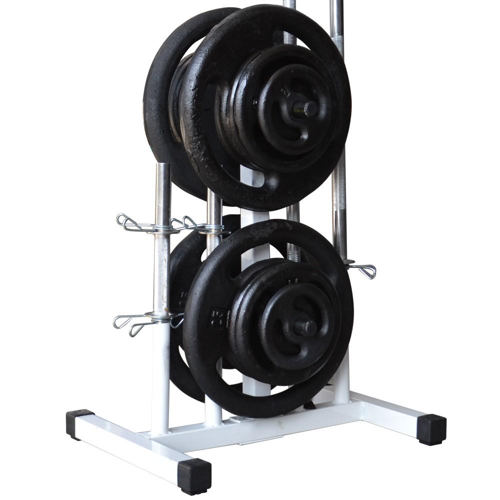 Foto4 - Suporte Expositor Para Barras E Anilhas / Capacidade 300kg - Fitness Prado